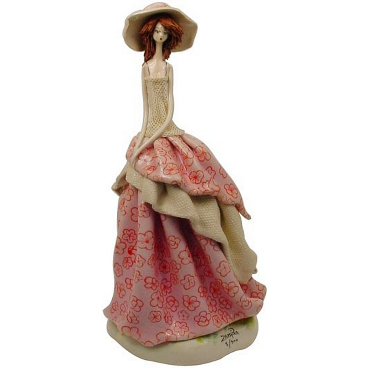 Статуэтка из керамики Леди. Ручная работа, Италия