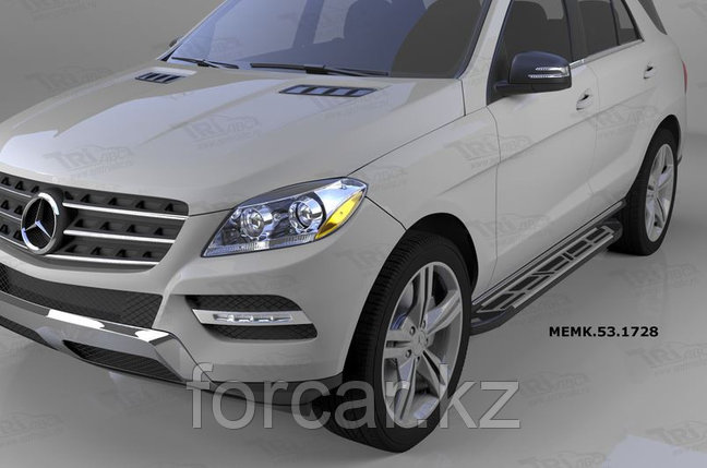Пороги алюминиевые (Corund Silver) Mercedes ML W166 (2011-), фото 2