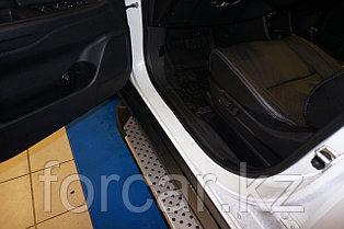 Пороги алюминиевые (Sapphire Silver) Mitsubishi Outlander (Митсубиши Аутлендер) (06-12;12-;15-)/ASX (2010-)/Pe, фото 3