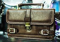 """Мужская барсетка """"FLANSA - 04"""", 26х16см (светло-коричневая)"""