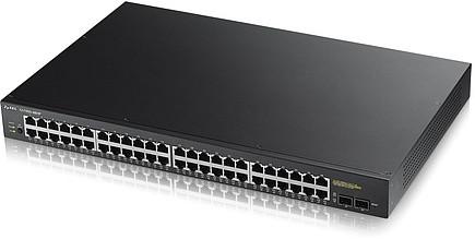 Zyxel GS1900-48HP PoE-коммутатор Gigabit Ethernet с 48 разъемами RJ-45 и 2 SFP-слотами