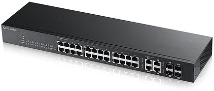 Zyxel GS1920-24 коммутатор Gigabit Ethernet с 24 разъемами RJ-45 и 4 SFP-слотами совмещ с разъемами RJ-45