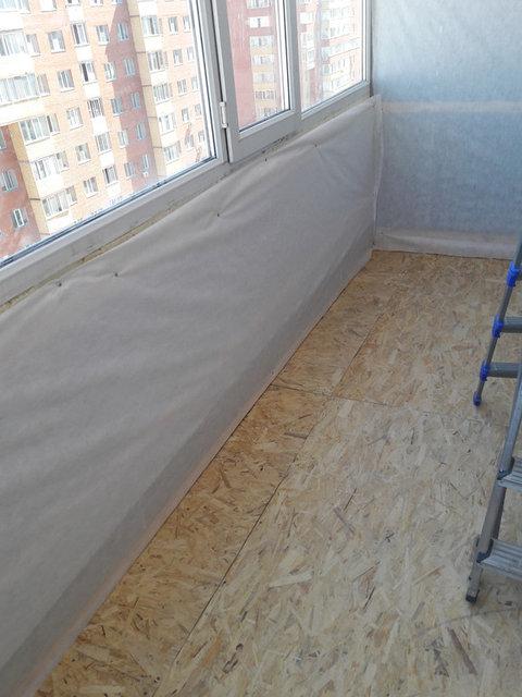 Переостекление и обшивка балкона с утеплением  ул. Майлина 29 15