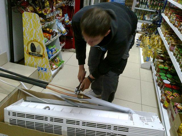 Установка 36 кондиционера в магазин город Кокшетау 14
