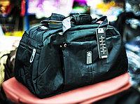 "Спортивная дорожная сумка ""VALTEX"", 46х20х24см (черная)"