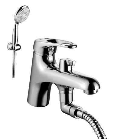 Смеситель на борт ванны с монолитным изливом LeMark Серия OMEGA LM3115C