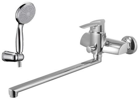 Смеситель для ванны с плоским изливом 350 мм LeMark Серия MARS  LM3501C