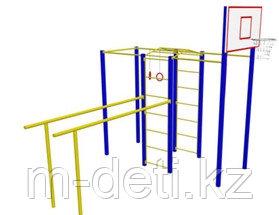 Гимнастический комплекс с баскетбольным кольцом
