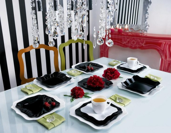 Столовый сервиз Luminarc Authentic Black&White 30 предметов на 6 персон
