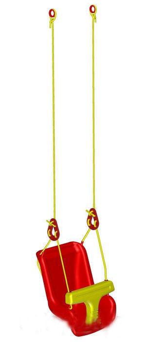 Качели для малышей красные