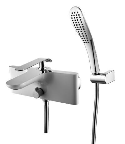 Смеситель для ванны LeMark Серия MELANGE LM4914CW  хром/белый