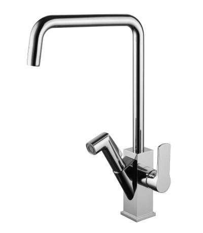 Смеситель для кухни с поворотным изливом и вытяжной лейкой  LeMark Серия SOUL LM6003C