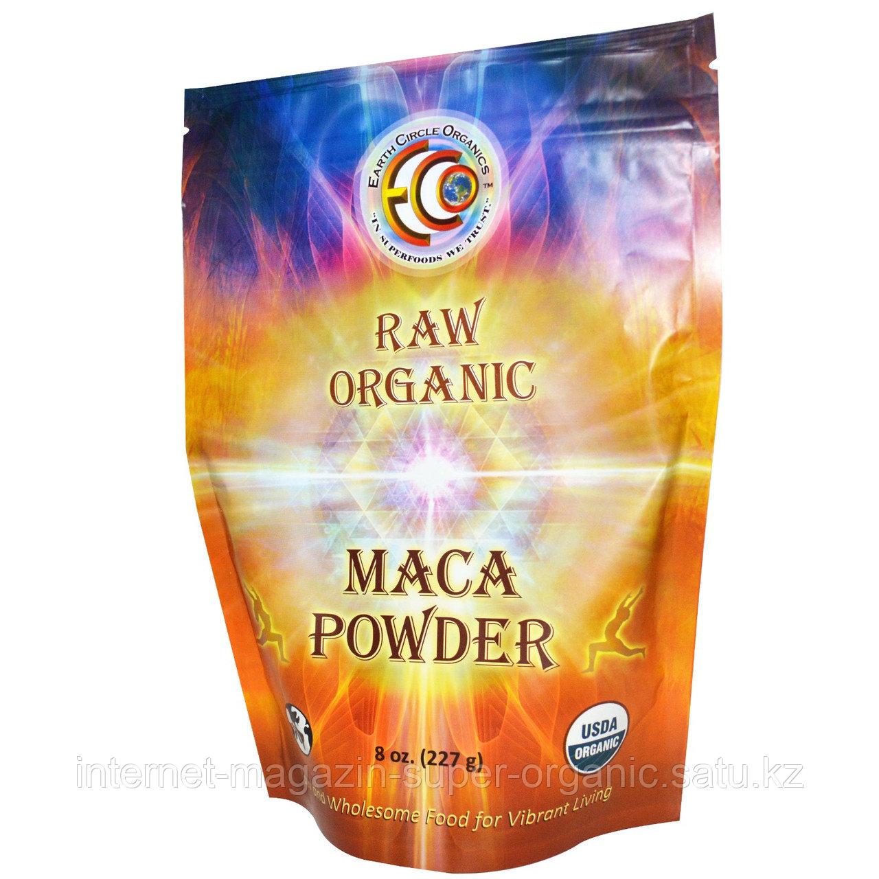 Мака натуральная порошок, 227 гр (Raw Organic Maca Powder), Earth Circle Organics