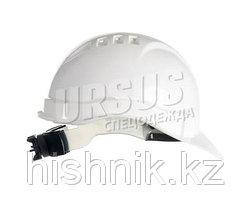 Каска промышленная ЕВРОПА-Люкс белая (храповик)