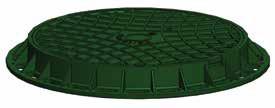 Люк канализационный пластиковый (садовый) зел