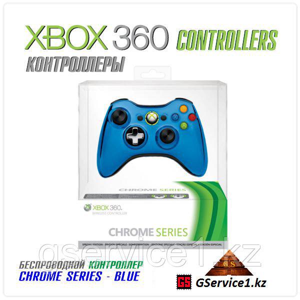 Controller Wireless Chrome Blue (Xbox 360)