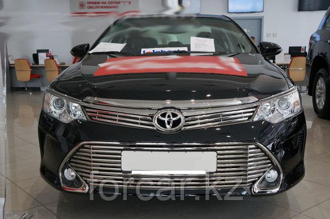 Решётка премиум класса на Toyota Camry 55 (верх и низ), фото 2