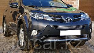 Решётка премиум класса на Toyota RAV4 до 2016г. (Верх и Низ)