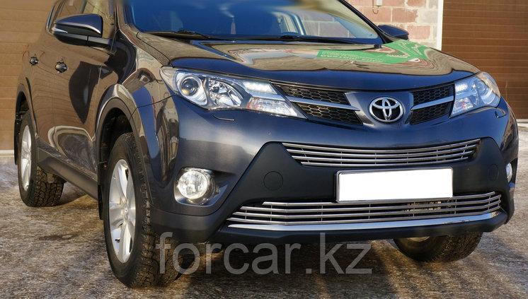 Решётка премиум класса на Toyota RAV4 до 2016г. (Верх), фото 2
