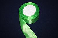 Лента атласная (зелёная 052) 40 мм. - 18 метров