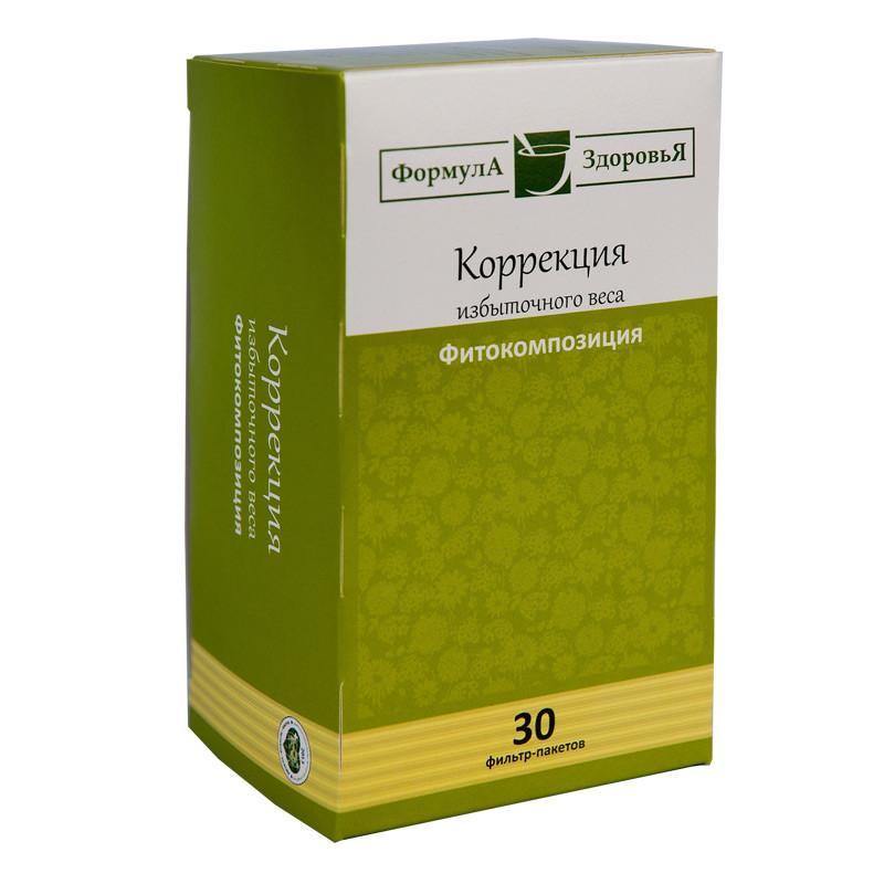 Чайный напиток, Коррекция избыточного веса, 30 фильтр пакетов