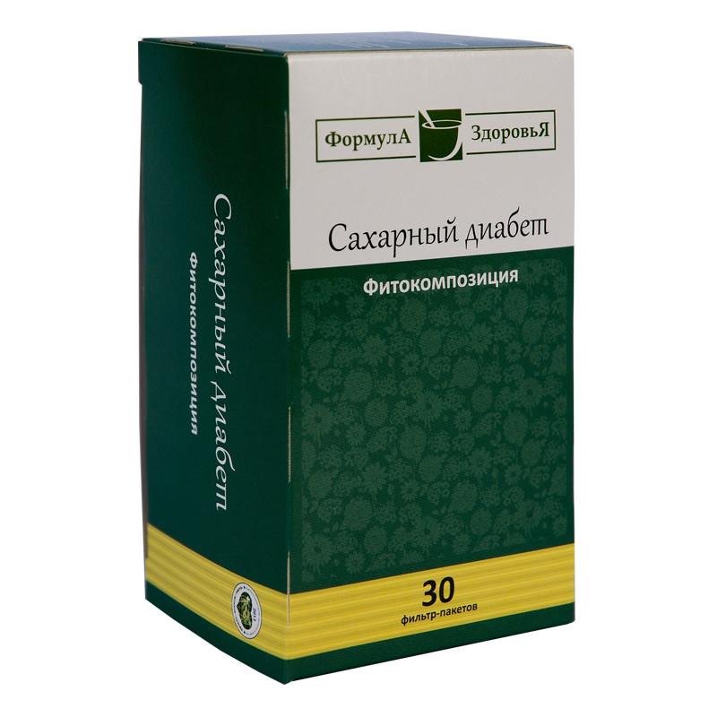 Чайный напиток, Сахарный диабет, 30 фильтр пакетов