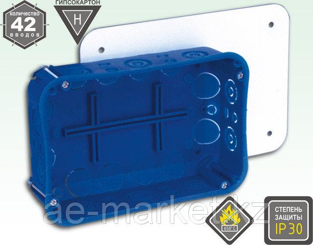Электроустановочная коробка для гипсокартона и полых стен с креплением металлическими лапкам