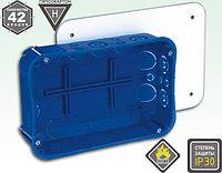 Электроустановочная коробка для гипсокартона и полых стен с креплением металлическими лапкам, фото 1