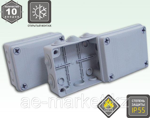 коробка распаячн. о/п с сальниками)IP65 110х150x50