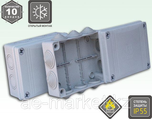 Коробка распаячная для открытого монтажа с резиновыми вводами