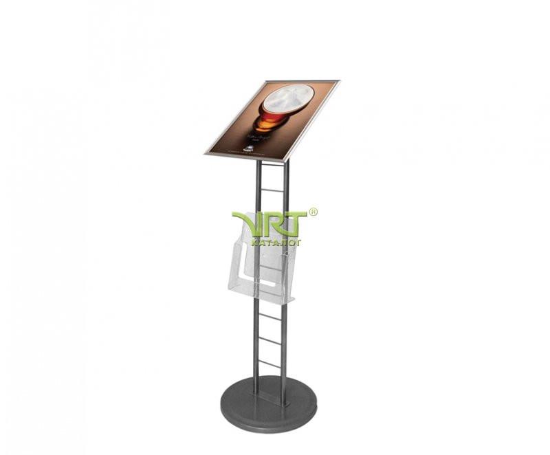 Рекламная стойка-лесенка с наклонной защелкивающейся рамкой Рондо А3