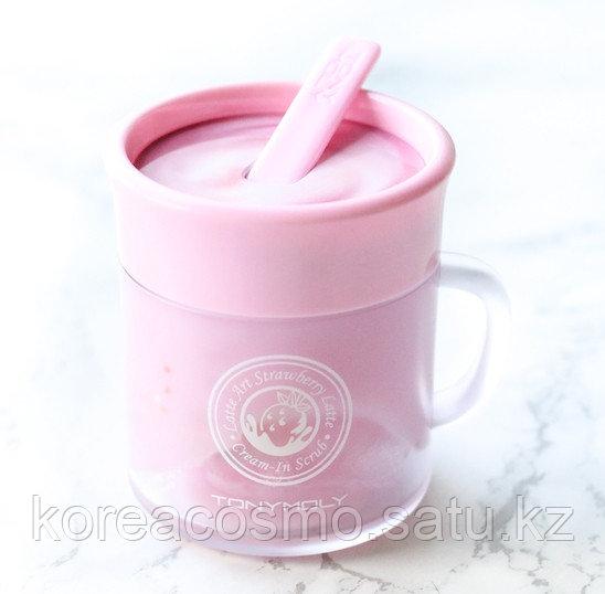 Скраб для лица Tony Moly Latte Art Strawberry Cream In Scrub