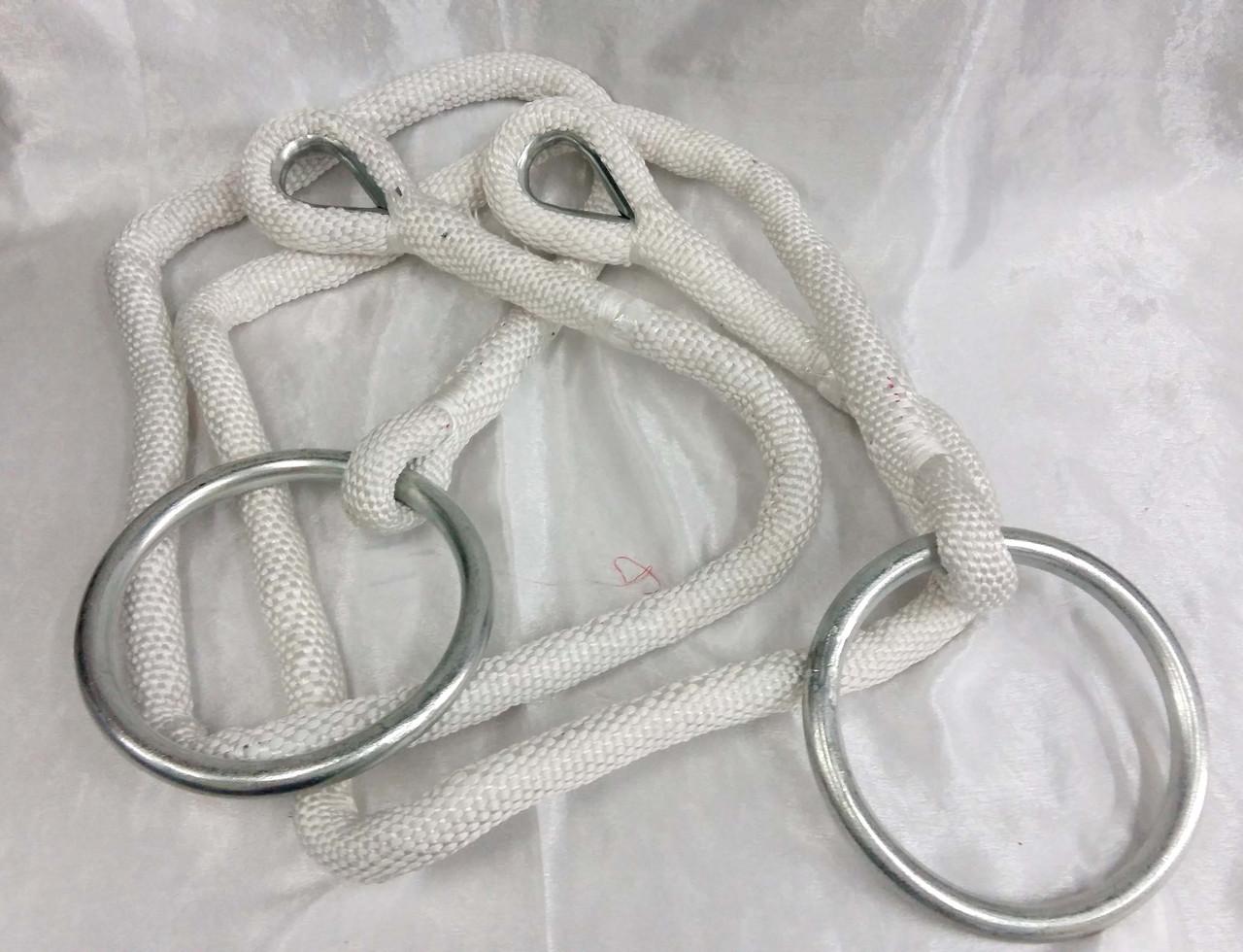 Кольца гимнастические подвесные C-0036 (канат-нейлон, кольца металл)