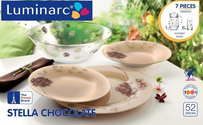 Столовый сервиз Luminarc Stella Chocolate 52 предмета на 6 персон