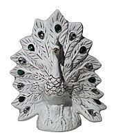 """Ваза - сувенир """"Павлин белый- К38"""" (керамика), 25х20см , фото 1"""
