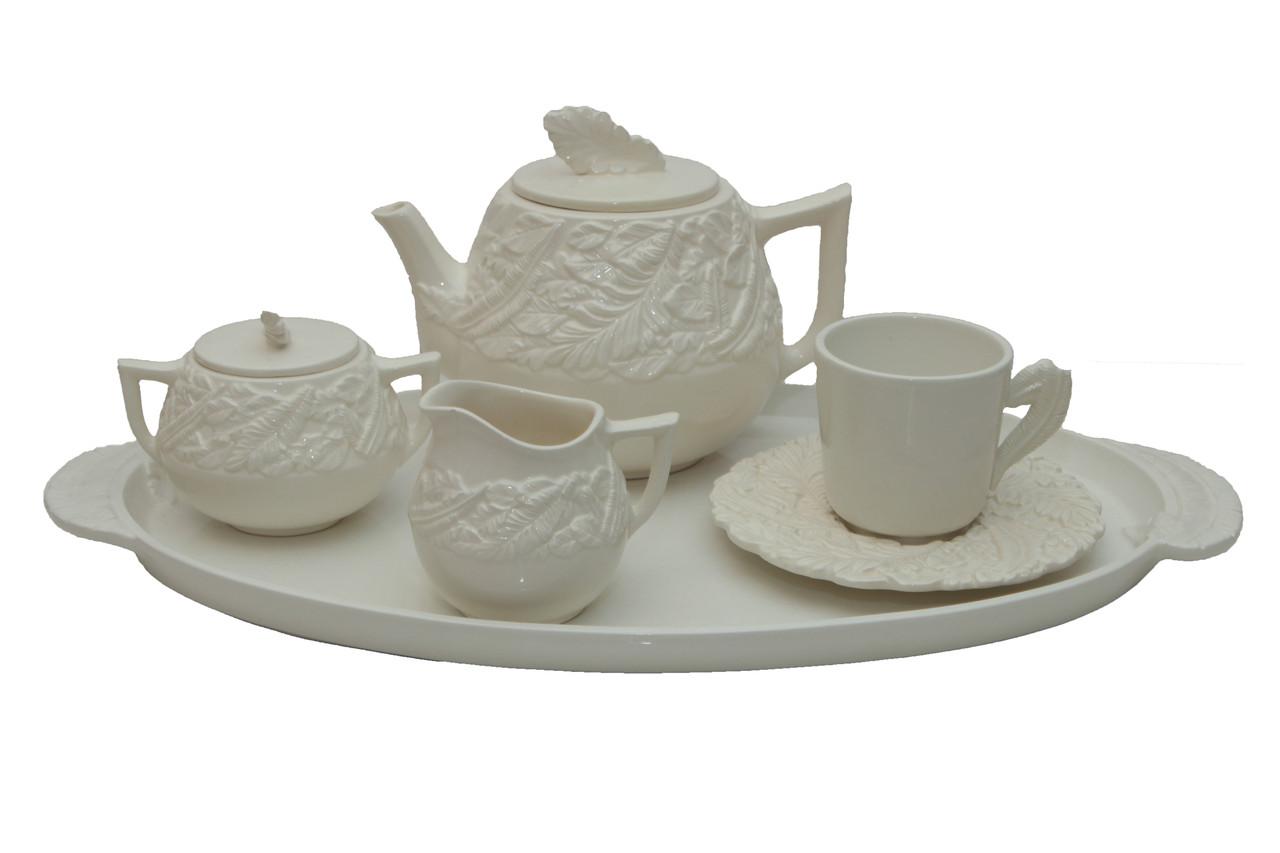 Чайный сервиз на одну персону. Италия, керамика