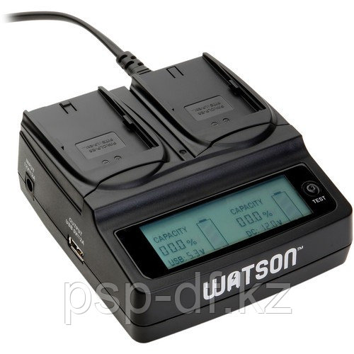 Watson Duo Battery Charger for Sony NPF-, NPFM-, and NP-QM Series Batteries (на 2 батарейки)