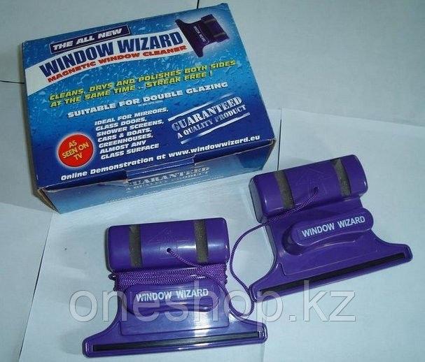Магнитная щетка Window Wizard для двухстороннего мытья окон