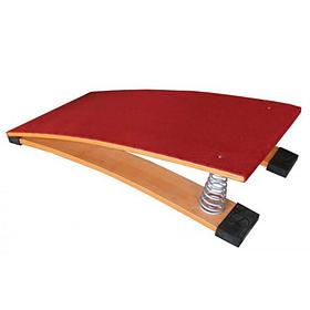 Мостик гимнастический пружинный с гнутой платформой