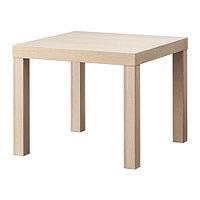 Журнальный столик  ЛАКК под беленый дуб 55x55 см ИКЕА, IKEA, фото 1