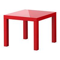 Журнальный столик ЛАКК глянцевый красный ИКЕА, IKEA, фото 1
