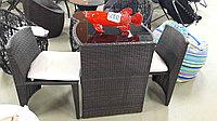 Набор мебелья ротанг. стол + 2 стула