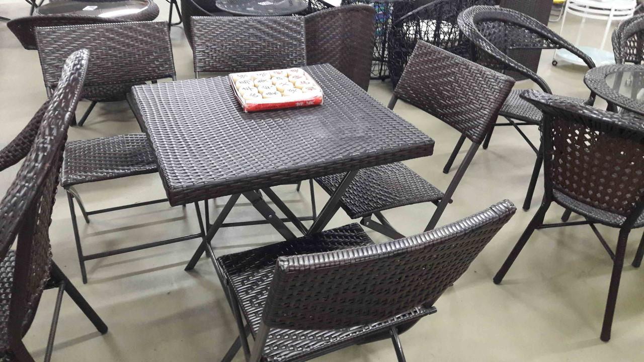 Набор мебелья ротанг. стол + 4 стула
