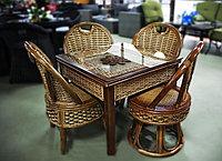 Стол+4 стула из натурального ротанга