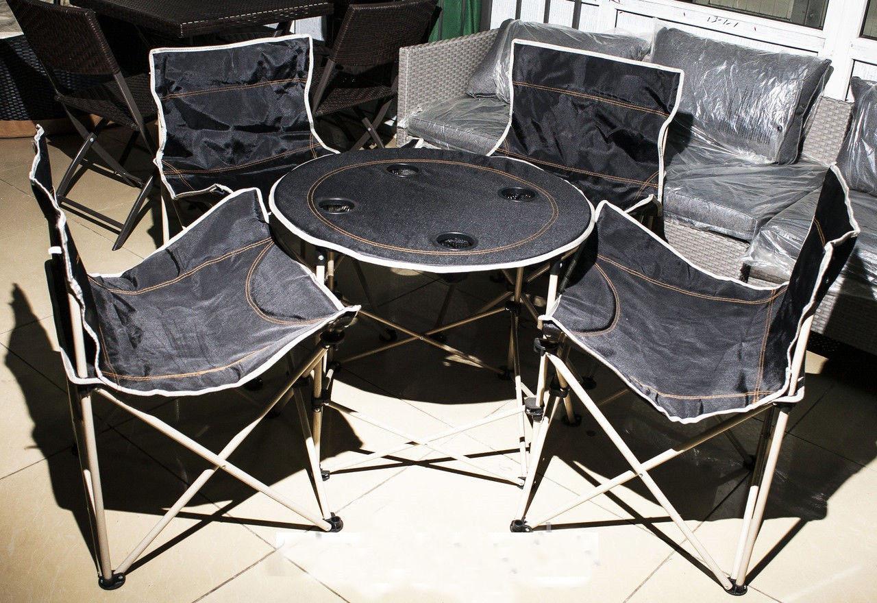 Комплект складного стула со стульями