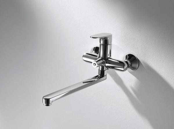 Смеситель для ванны с длинным изливом Bravat ALFA F6120178CP-01L