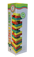 Настольная игра Башня 54 детали цветная Бэмби, фото 1