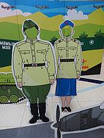 """Праздничная фото зона, пресс стена к 9 Мая в """"Мега Центр Алматы"""" 1"""