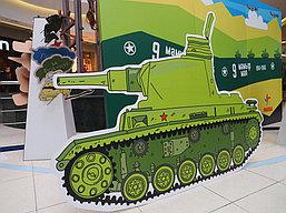 """Праздничная фото зона, пресс стена к 9 Мая в """"Мега Центр Алматы"""" 3"""