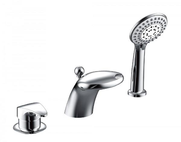Смеситель для ванны встраиваемый на 3 отверстия Bravat COBRA F5140197CP-1-RUS